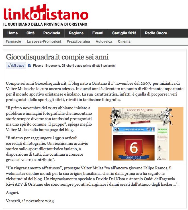 Linkoristano 2013