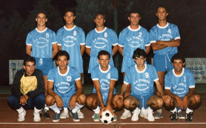 La Pineta Calcetto · Torregrande fine anni '80