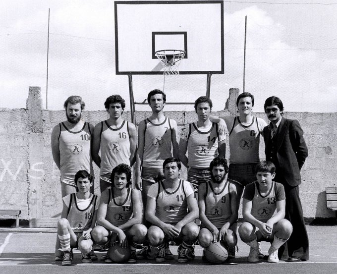 Basket Arborea · primi anni settanta