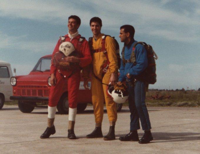 Paracadutismo inizi anni ottanta