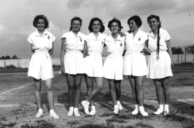 Ginnastica Femminile al Campo Tharros · 1951