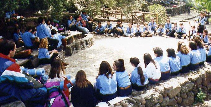Scout Cappuccini a Bauladu 1992