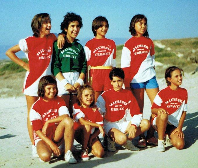 Calcio femminile a Su Crastu Biancu · anni ottanta