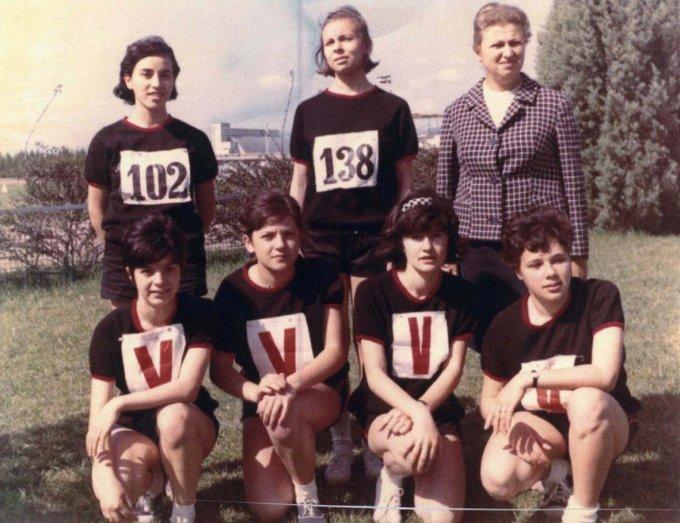 Squadra di atletica anni sessanta