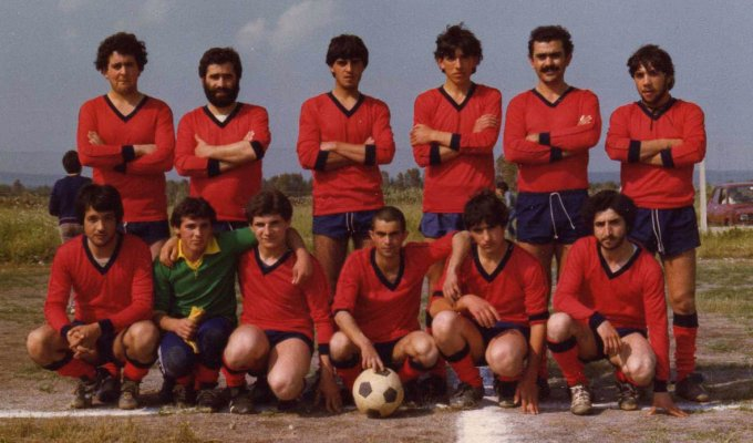 Bar Putzolu Calcio anni ottanta