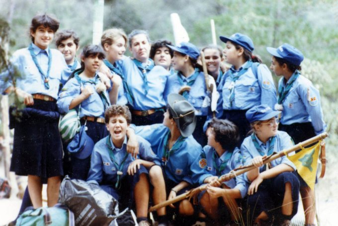 Gruppo Scout OR1 al Campo Alisei 1989