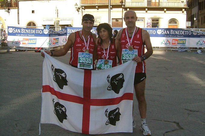 Tre sardi alla maratona di Firenze - 2006