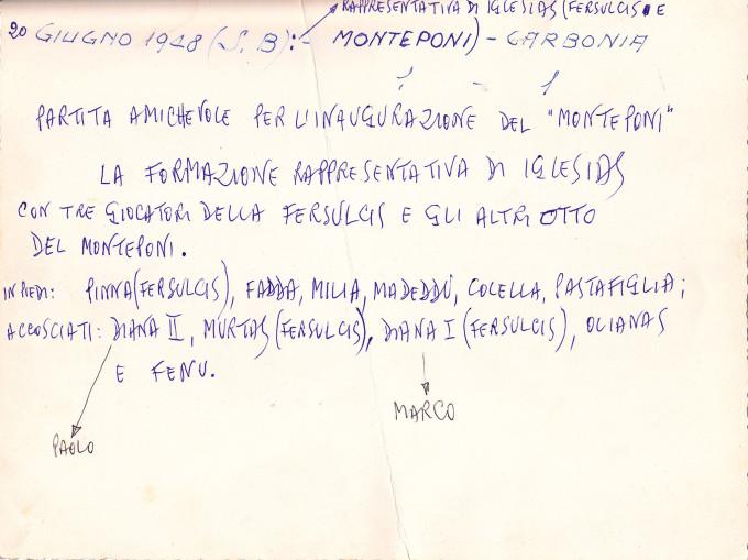 Rappresentativa Iglesias-Fersulcis · 1948DUE